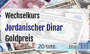 Jordanischer Dinar in Goldpreis