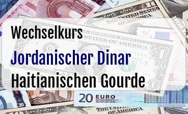 Jordanischer Dinar in Haitianischen Gourde