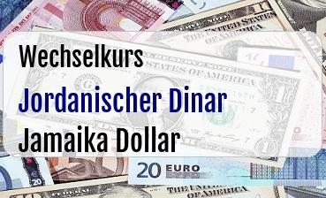 Jordanischer Dinar in Jamaika Dollar