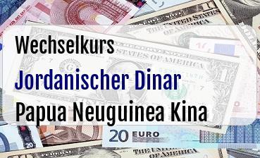 Jordanischer Dinar in Papua Neuguinea Kina