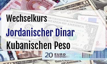 Jordanischer Dinar in Kubanischen Peso