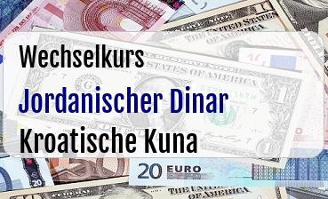 Jordanischer Dinar in Kroatische Kuna
