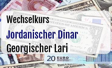 Jordanischer Dinar in Georgischer Lari