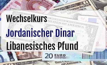 Jordanischer Dinar in Libanesisches Pfund