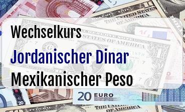 Jordanischer Dinar in Mexikanischer Peso