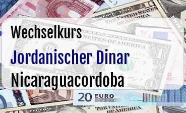 Jordanischer Dinar in Nicaraguacordoba