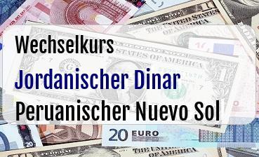 Jordanischer Dinar in Peruanischer Nuevo Sol