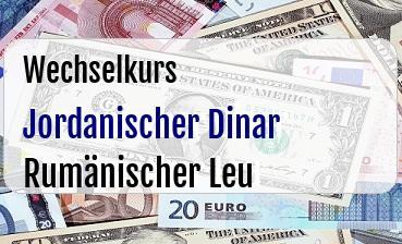 Jordanischer Dinar in Rumänischer Leu