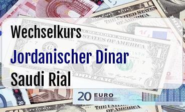 Jordanischer Dinar in Saudi Rial