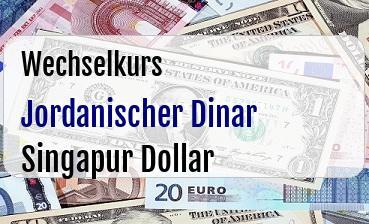 Jordanischer Dinar in Singapur Dollar