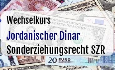 Jordanischer Dinar in Sonderziehungsrecht SZR
