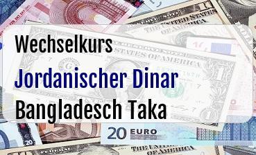 Jordanischer Dinar in Bangladesch Taka