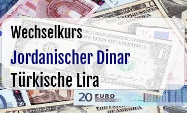 Jordanischer Dinar in Türkische Lira