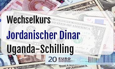 Jordanischer Dinar in Uganda-Schilling