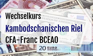 Kambodschanischen Riel in CFA-Franc BCEAO