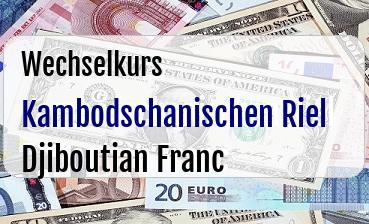 Kambodschanischen Riel in Djiboutian Franc