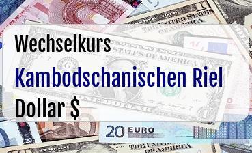 Kambodschanischen Riel in US Dollar
