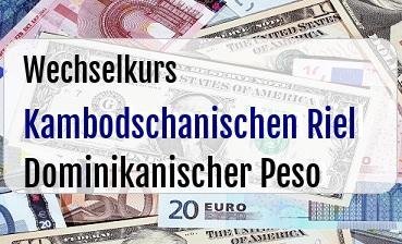 Kambodschanischen Riel in Dominikanischer Peso