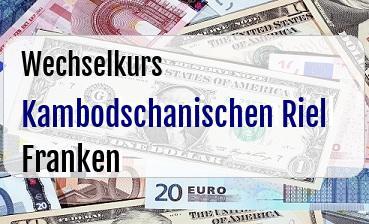 Kambodschanischen Riel in Schweizer Franken