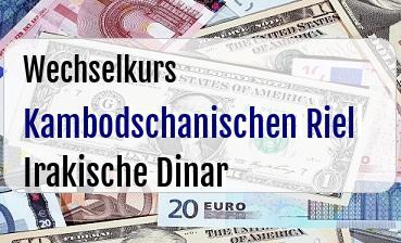 Kambodschanischen Riel in Irakische Dinar