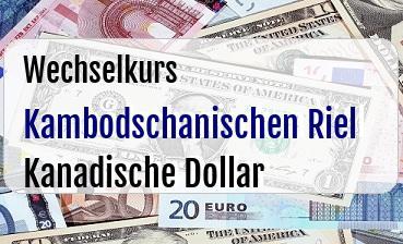 Kambodschanischen Riel in Kanadische Dollar