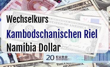 Kambodschanischen Riel in Namibia Dollar