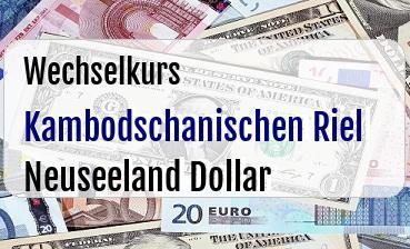 Kambodschanischen Riel in Neuseeland Dollar