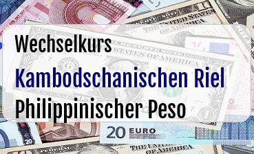 Kambodschanischen Riel in Philippinischer Peso