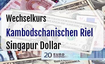 Kambodschanischen Riel in Singapur Dollar