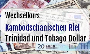 Kambodschanischen Riel in Trinidad und Tobago Dollar