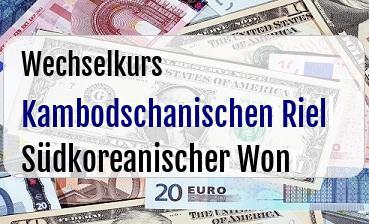 Kambodschanischen Riel in Südkoreanischer Won