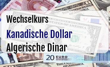 Kanadische Dollar in Algerische Dinar