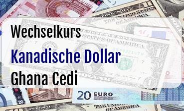 Kanadische Dollar in Ghana Cedi