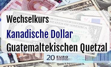 Kanadische Dollar in Guatemaltekischen Quetzal
