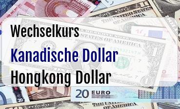 Kanadische Dollar in Hongkong Dollar