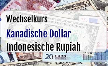 Kanadische Dollar in Indonesische Rupiah