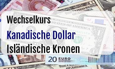 Kanadische Dollar in Isländische Kronen