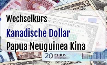Kanadische Dollar in Papua Neuguinea Kina