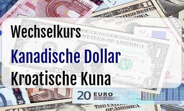 Kanadische Dollar in Kroatische Kuna