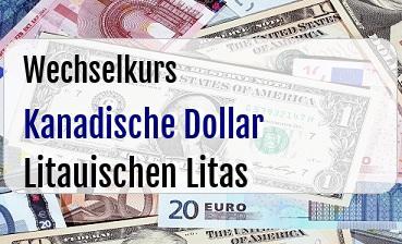 Kanadische Dollar in Litauischen Litas