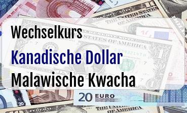 Kanadische Dollar in Malawische Kwacha