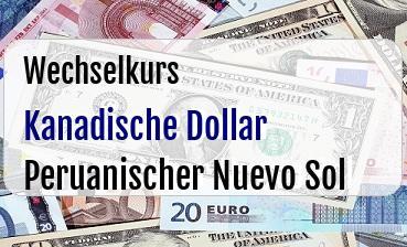 Kanadische Dollar in Peruanischer Nuevo Sol
