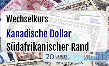 Kanadische Dollar in Südafrikanischer Rand