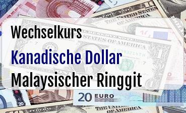 Kanadische Dollar in Malaysischer Ringgit
