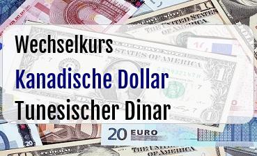 Kanadische Dollar in Tunesischer Dinar