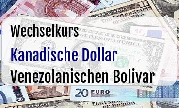 Kanadische Dollar in Venezolanischen Bolivar
