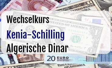 Kenia-Schilling in Algerische Dinar