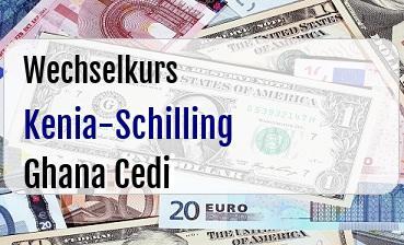 Kenia-Schilling in Ghana Cedi