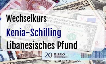 Kenia-Schilling in Libanesisches Pfund