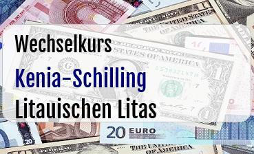 Kenia-Schilling in Litauischen Litas
